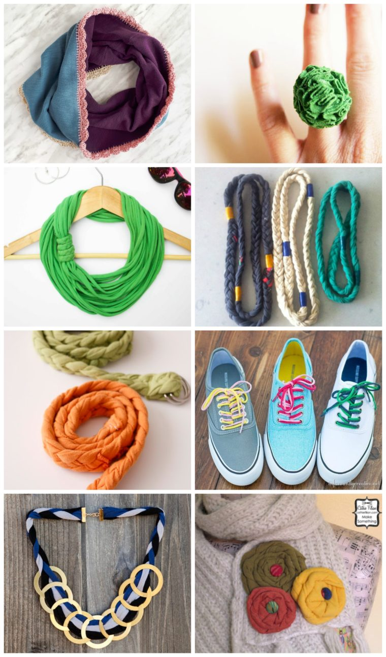 Repurpose old t-shirts into useful and pretty DIY accessories. 20 of the best and cutest repurposed t-shirt DIYs to keep you crafty and chic! These are great DIY gift ideas too.