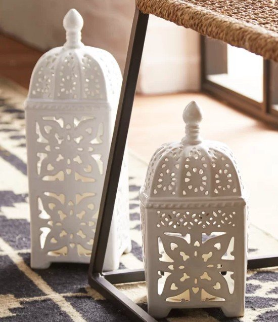 Outdoor lanterns for citronella candles