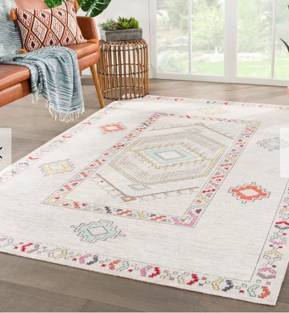Pretty outdoor rug for a cozy outdoor space