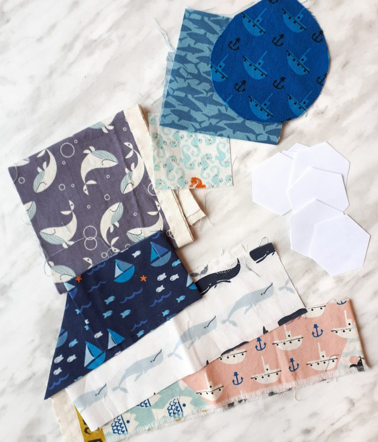 fabrics for english paper pieced hexies