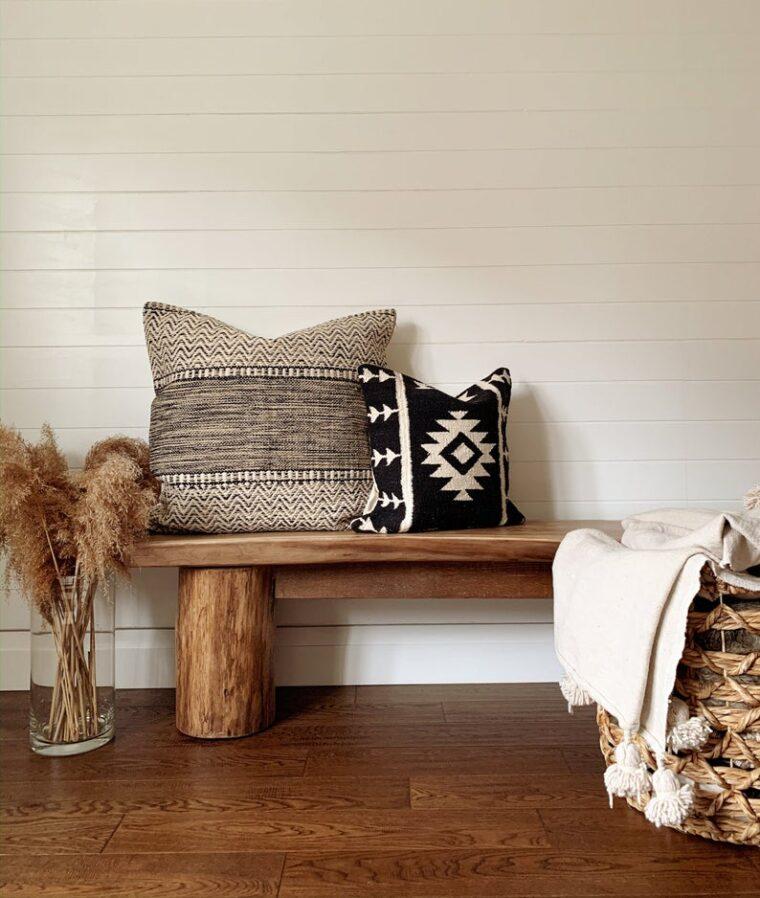Boho outdoor throw pillows for a cozy outdoor space