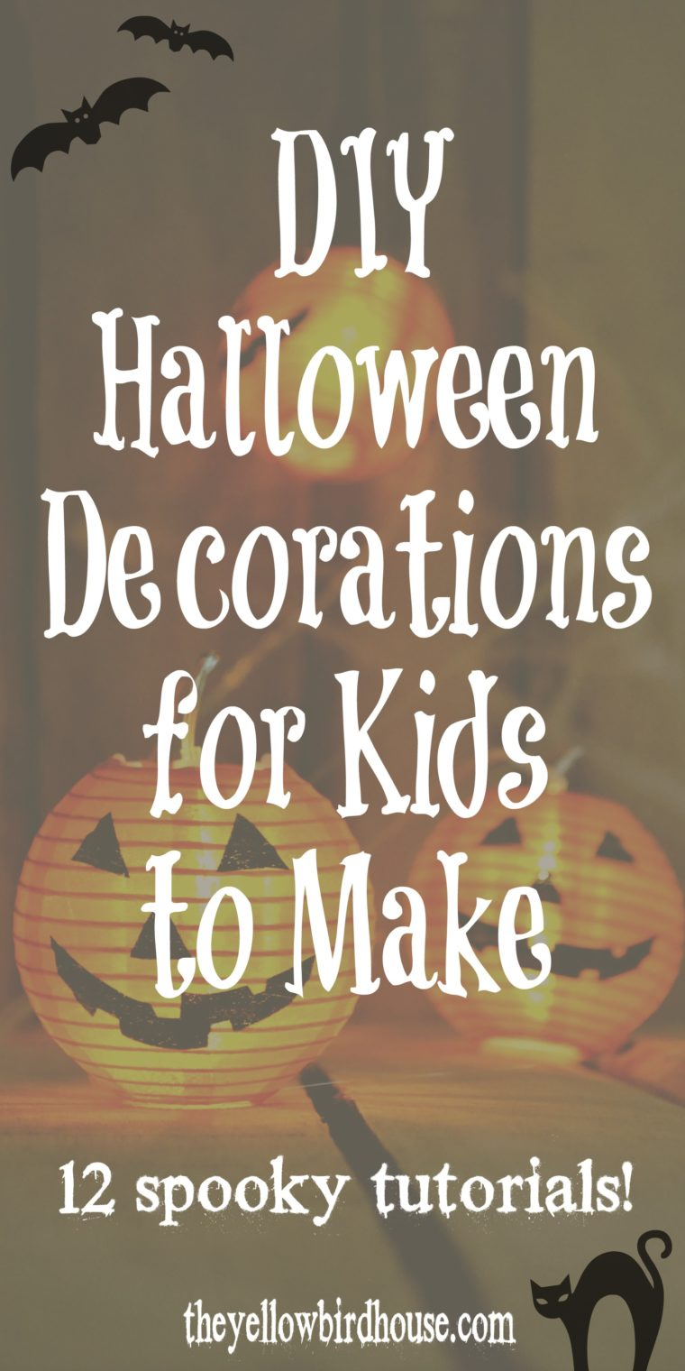 12 DIY Halloween Decorations for Kids to Make. Spooky tutorials for all ages. Have some Halloween fun with these easy DIY decor ideas. Let the kiddos decorate the house with their own festive DIY Halloween decor!