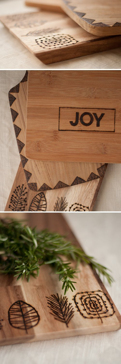 25 handmade Christmas gift ideas on a budget. DIY etched cutting boards. Gifts for him.