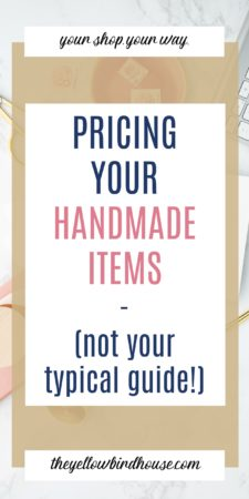 Not your typical guide to pricing handmade items. At a loss for how to price your handmade items for your Etsy shop? Check out this post to learn how to calculate prices that make sense for you and your shop. Figure out what all your costs are and how to value your skillset. How to price items for your handmade shop.
