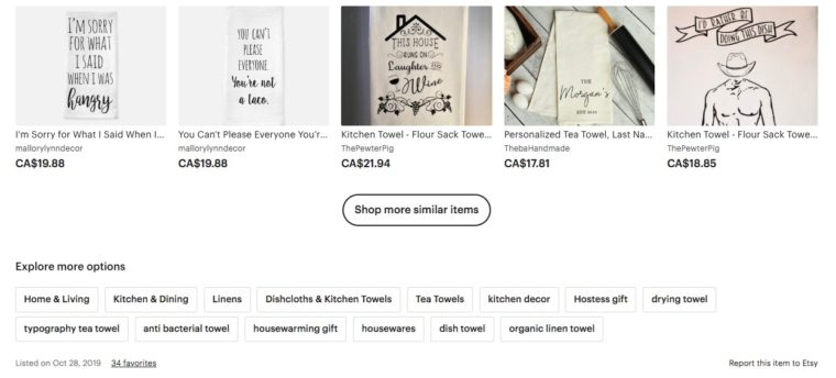 Research the competition to find great Etsy tags