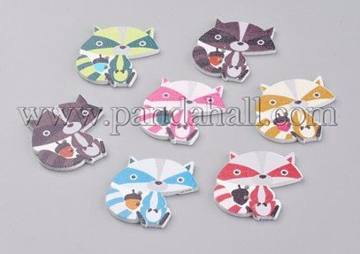 Add a few cute wooden buttons to orders