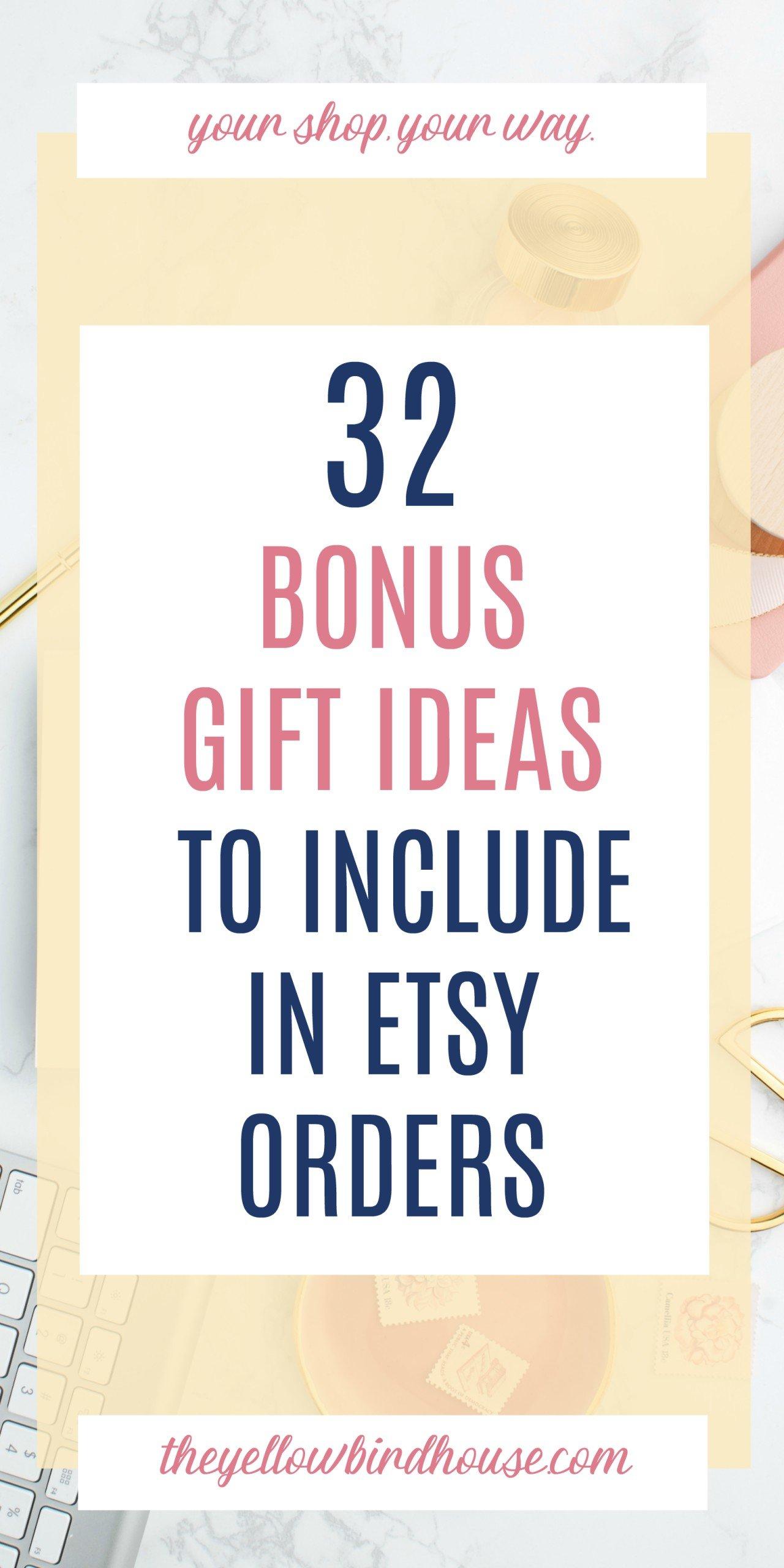20 Bonus Gift Ideas for Etsy Orders   The Yellow Birdhouse