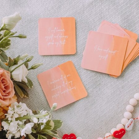 Affirmation cards to send to customers