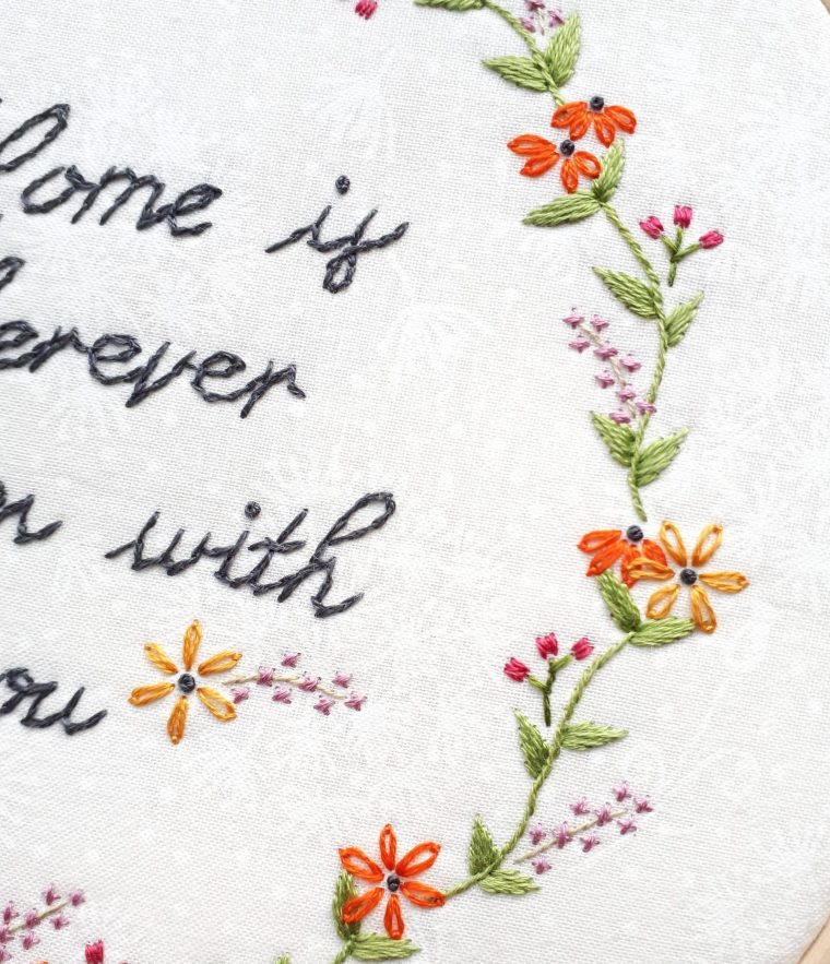 How to cross stitch beautiful lilac flowers