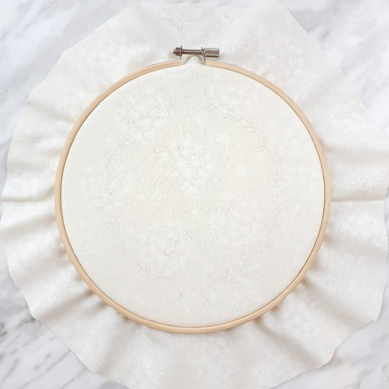 How to prepare an embroidery hoop for stitching