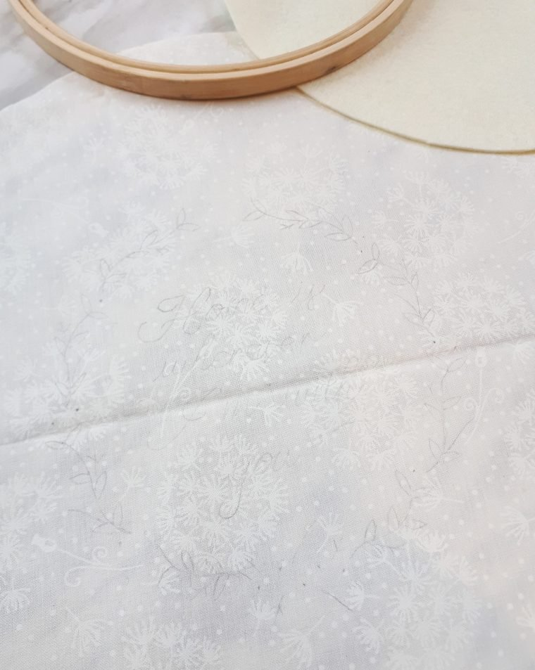 A simple way to transfer embroidery patterns to fabric