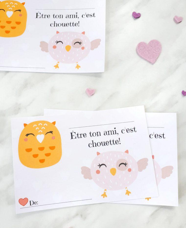 Free Valentines for kids. Valentins Français