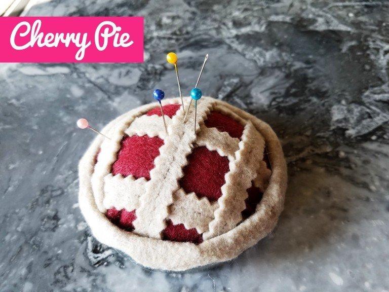 Tiny pie pincushions.
