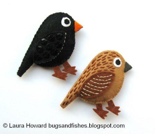 Felt blackbirds DIY tutorial