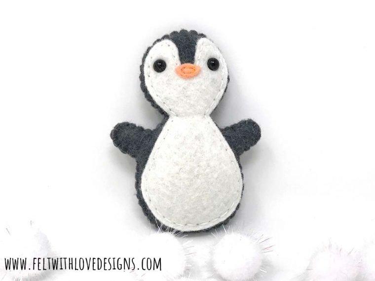 Free felt penguin softie pattern
