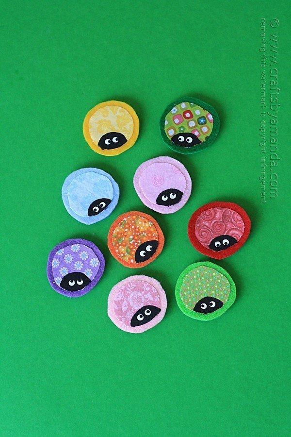Cute felt ladybug magnets.
