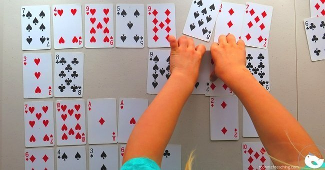 Teach math at home with simple card games for kids