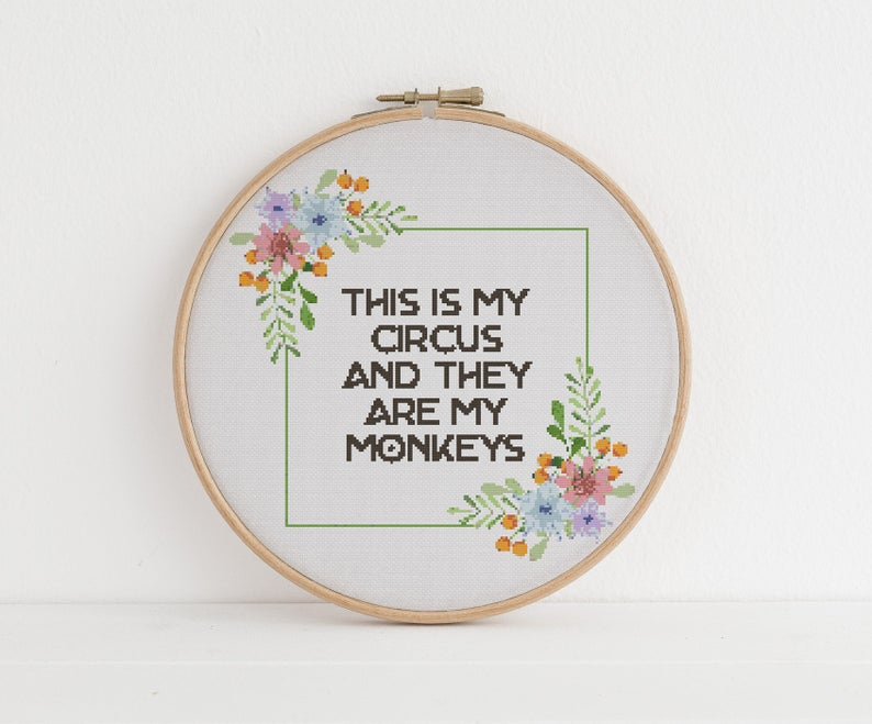 Sassy embroidery patterns for your home