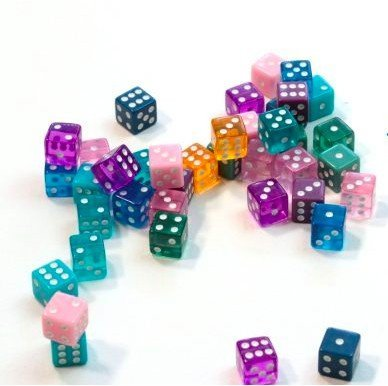 Dice games for Families learning math