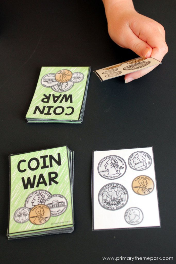 Learning math with money games