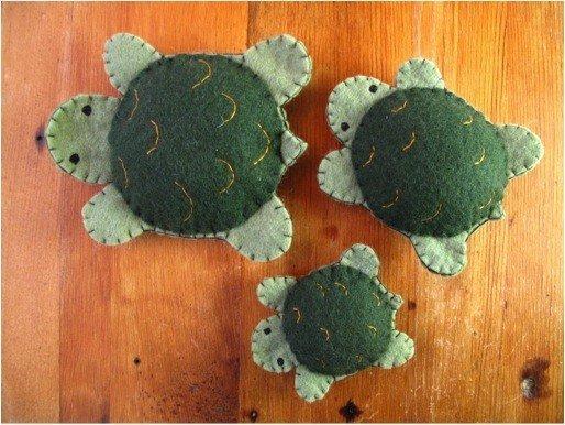 Free felt turtle pattern
