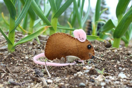 Cute little garden mouse pattern