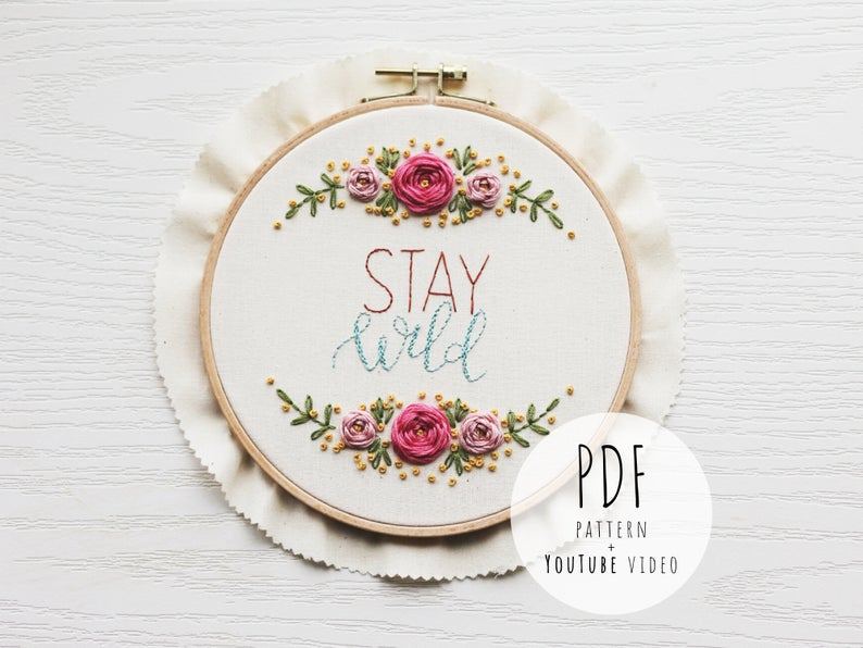 Pretty floral embroidery for modern stitchers
