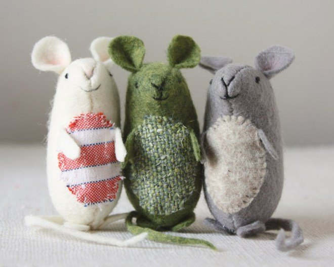 Nice little mice. Felt mouse pattern