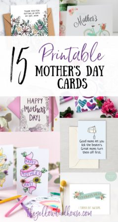 15 Printable Mother's Day cards. Funny mother's day cards to print at home. Cute cards for moms. Download and print any of these great Mother's Day cards at home! Last minute Mother's Day card ideas. Colouring page cards for Moms.