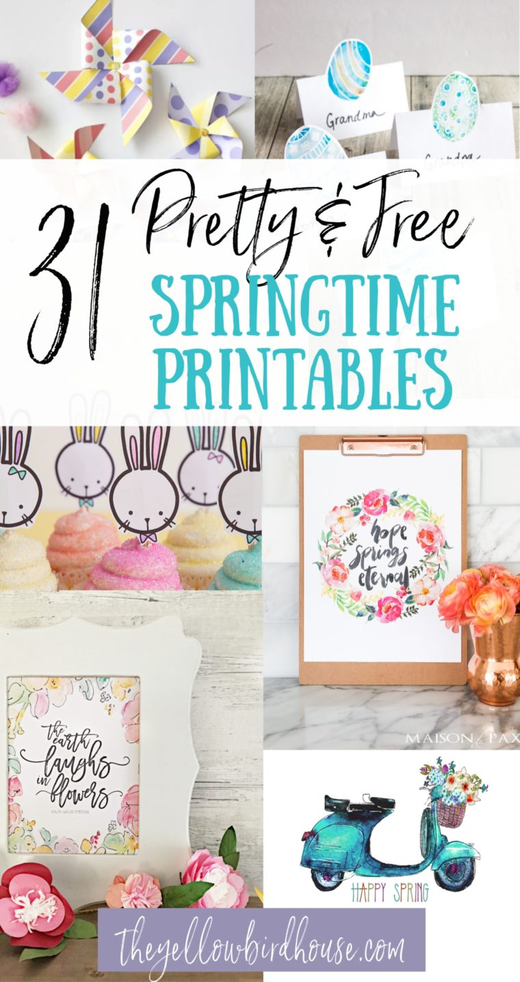 31 pretty printables for spring! Free Easter printable art, decor & colouring pages. Pretty floral spring colouring pages and decor ideas. Printable Easter Art & wall decor.