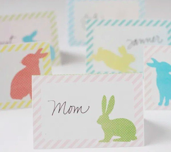Cute bunny place cards