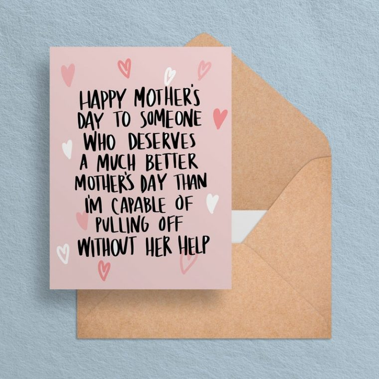 Funny Mother's Day card to print at home.