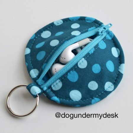 DIY earplugs zip case. 20 ways to use up fabric scraps