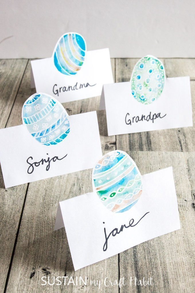 Printable egg place cards