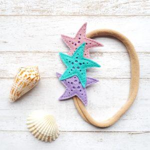 Felt Starfish Headband die cuts.