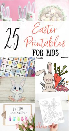 25 Free Easter Printables for Kids. Great printable Easter crafts, activities, colouring pages and decor. Awesome free printables for kids to celebrate Easter and help keep them busy! Printable Easter bunny crafts and art.