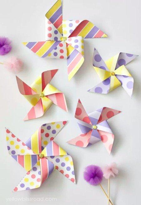 Pretty Easter Pinwheels