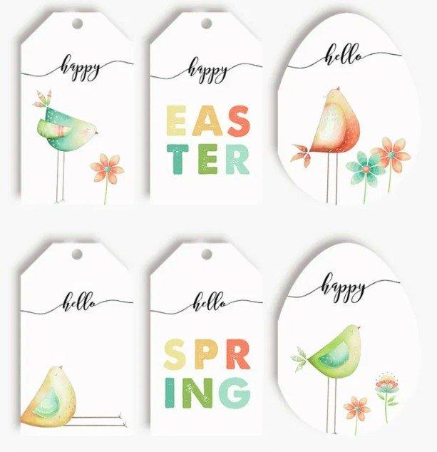 Pretty springtime printable tags & cards