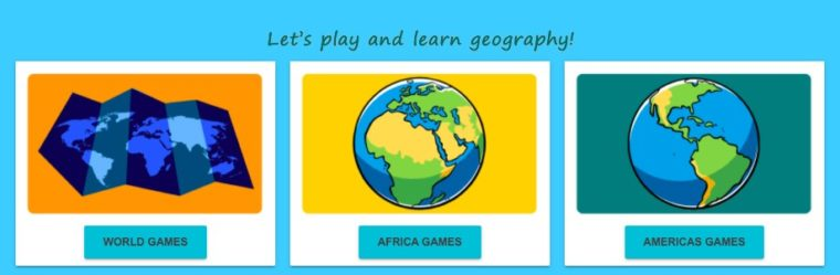 World geography game for kids. Best educational websites for children