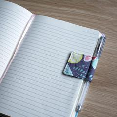Cute magnetic penholder for your journal using fabric scraps