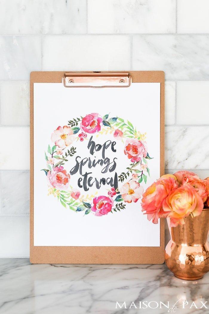 Springtime printable art