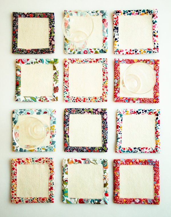 Cute coasters simple sewing pattern