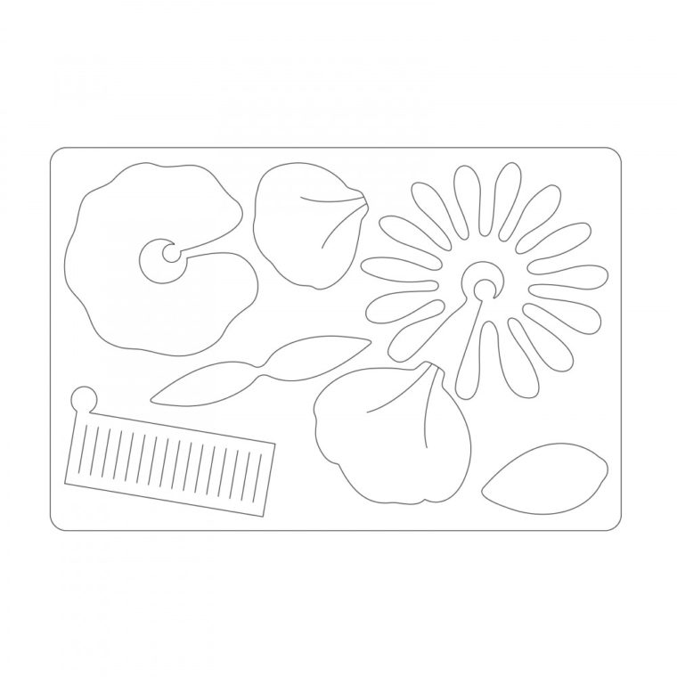 All the different flower elements from one Sizzix Bigz die