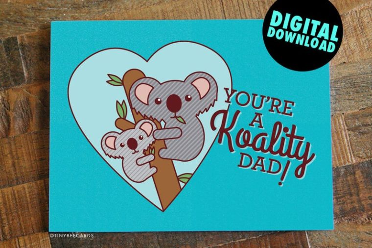 Fun and funny father's day cards to print at home
