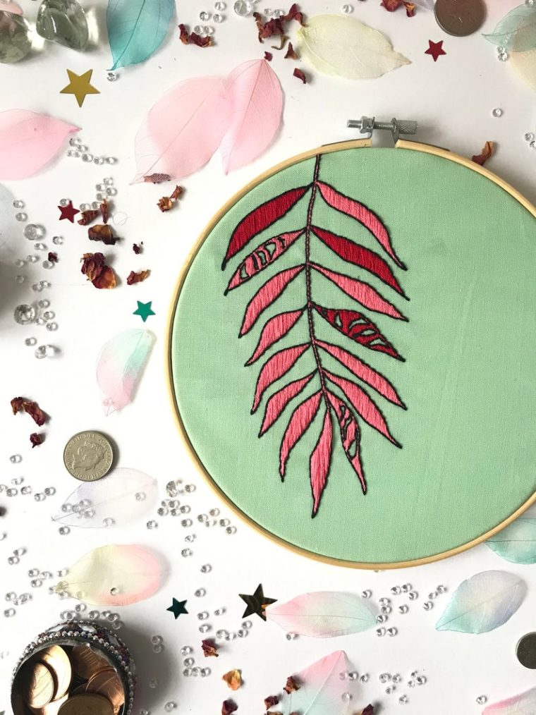 DIY embroidery kits for plant lovers