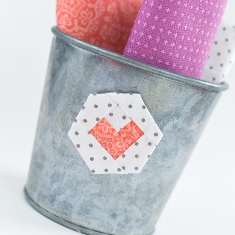 Cute paper pieced hexie magnet. Hexagon sewing projects