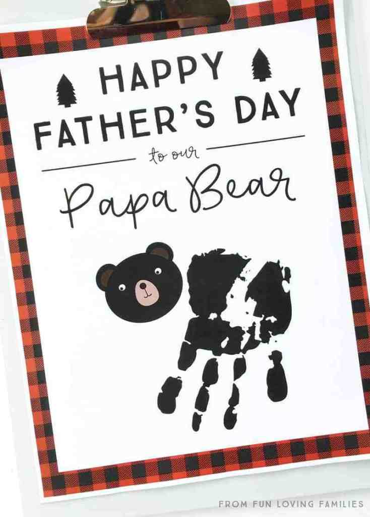 Cute Father's Day printable craft