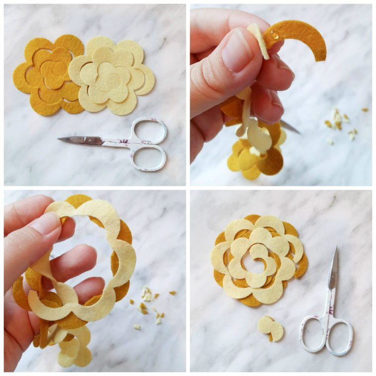 Make a two toned felt flower
