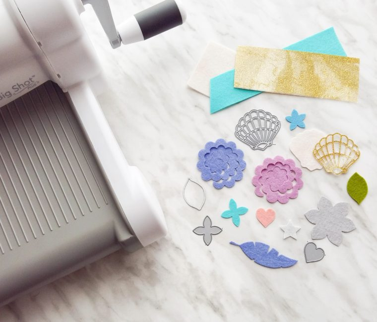 How to cut felt with wafer thin dies and a sizzix die cutting machine