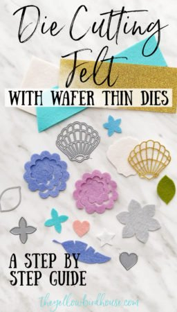 Die Cutting with felt using wafer thin dies. How to die cut felt to make flowers, decor and more. Cut out intricate shapes out of felt using a die cutter and thin metal dies. How to to die cut felt flowers.